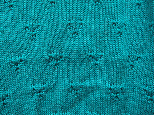 Teal Short Sleeved Sweater (detail)