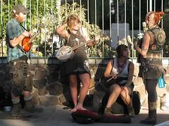 mandolin banjo accordion busker streetmusician musicalsaw