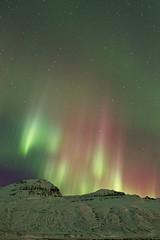 Aurora borealis above Mt. Hoffell (*Jonina*) Tags: longexposure winter sky mountains night iceland ísland auroraborealis vetur nótt himinn fjöll norðurljós fáskrúðsfjörður faskrudsfjordur hoffell jónínaguðrúnóskarsdóttir