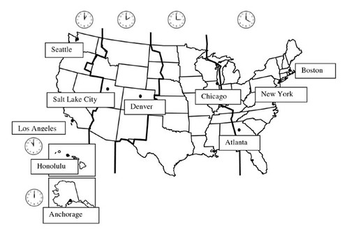 Usmap A Photo On Flickriver - Us time zone map black and white