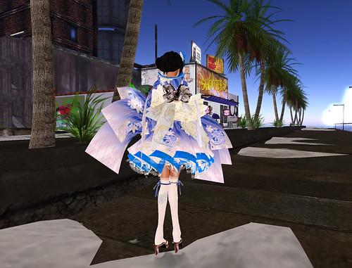 Kimono backside blue