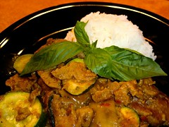 Thai Red Curry, plated and pretty