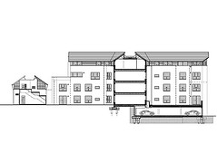 Section through Flats