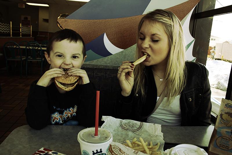 Typiska amerikaner på Burger King