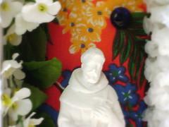 oratrio francisco (joanatomate) Tags: flor mandala feltro colar santo colorido gancho oratrio portarecado