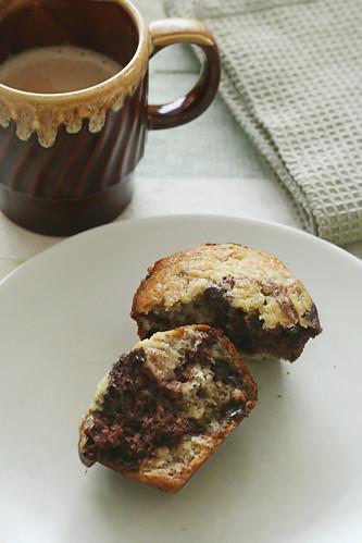 Marbled Choco-Banana Muffins