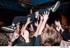 EYEHATEGOD crowdsurfing.