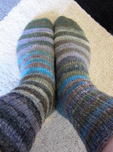 Stripey Kureyon socks
