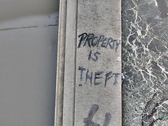 Property is Theft - Shoreditch graffiti, London