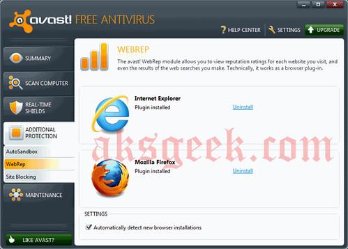 avast antivirus 6.0 WebRep