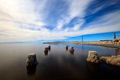 salton sea (Eric 5D Mark III) Tags: california longexposure blue sky usa cloud color reflection canon landscape unitedstates atmosphere wideangle tone saltonsea bombaybeach ef14mmf28liiusm eos5dmarkii