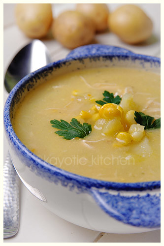 Potato, Corn & Chicken Soup