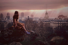 Paris Paris (Alexandra Sophie) Tags: life city pink cliff mountain paris mountains girl fashion sad citylife mysterious editorial romantic depressed dreamy melancholy parisian romantism 5dmarkii