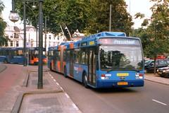 Arnhem No. 0202 (johnzebedee) Tags: holland arnhem transport publictransport trolleybus vanhool johnzebedee