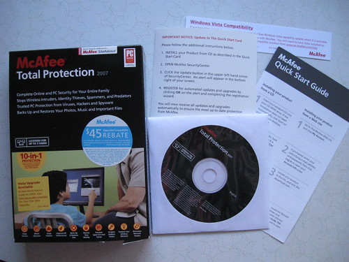 "McAfee Total Protection 2007 ""10-in-1"" Protection (New) -- 5"
