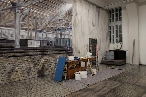 Ein Einblick in die Schauwerkstätte im MVG-Museum