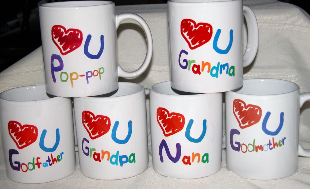 11 oz. Ceramic Personalized Mugs