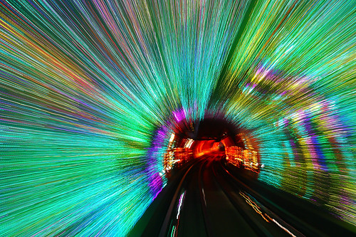 china city urban abstract architecture lights neon shanghai tram bundsightseeingtunnel