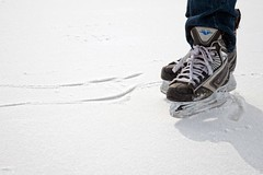 Fresh Ice (ICT_photo) Tags: winter snow canada ice hockey pond canadian skates laces ictphoto gettyimagescanada ianthomasguelphontario
