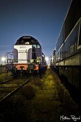 Cimetire des locomotives (Matthieu Pegard) Tags: night train gare flash rouen locomotive exploration nuit urbex cimetire sotteville glatine