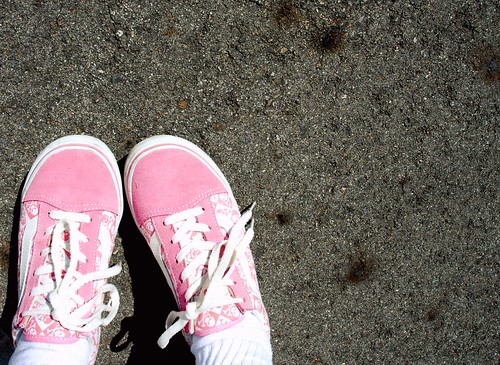 Pink Skully Vans
