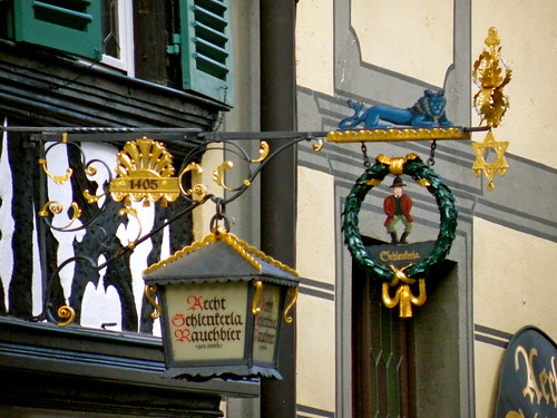 Schlenkerla Sign Bamberg by barockschloss, on Flickr