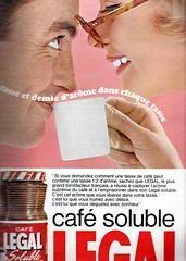 the 1960s-ad for Legal instant coffee (april-mo) Tags: coffee the60s instantcoffee vintagead the1960s 1964ad lesannes60 vintagefrenchad adforinstantcoffee 1964frenchmagazine legalinstantcoffee vintageadforinstantcoffee
