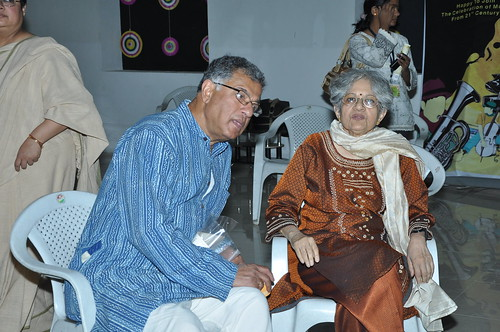 Girish Karnad and Meera Kosambi