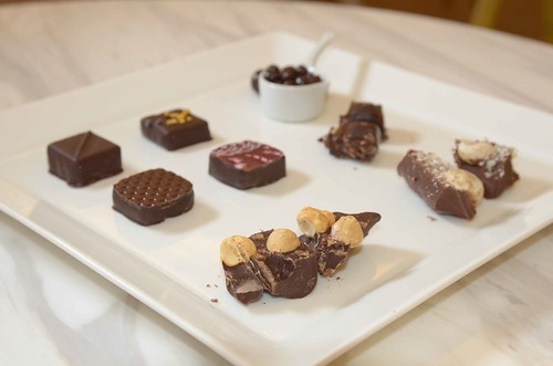 Chocolate sampler from Pavé