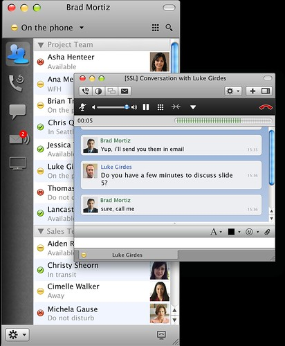 Cisco Jabber screenshot