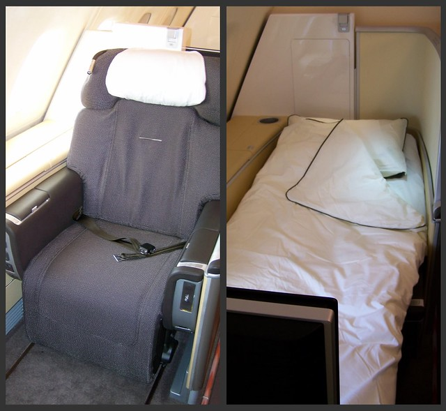 Lufthansa A380 First Class Compartment Before and After