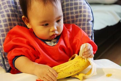 Baby Z & the banana