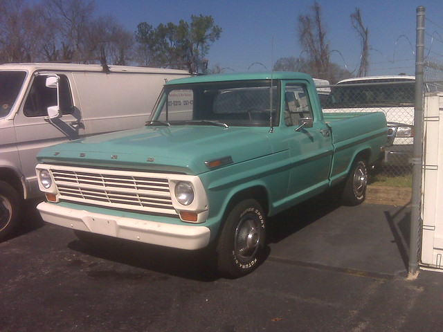 green ford 1969 f100