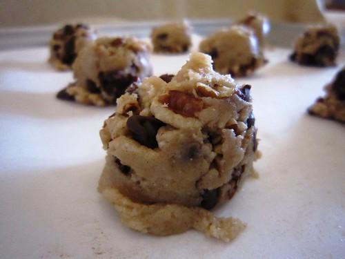 Cookie Dough Balls on Baking Sheet, take two