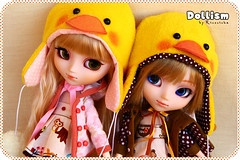 Dollism preview: Ducky hat! (Rinoninha) Tags: hat sisters duck doll gorro handmade cream ducky pato pullip preview patito ichigo mueca amano hermanas mymelody dollism tiphona