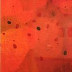 "<b>Scarlet Veil</b><br/> Paula Berg Owen (LC '70) (mixed media on paper, 2008)<a href=""http://farm6.static.flickr.com/5059/5492997898_633ca6d5f8_o.jpg"" title=""High res"">∝</a>"