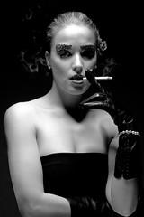 Smoke (Buldrock) Tags: portrait guanti vintage pose smoke makeup ritratto sigarette buldrock