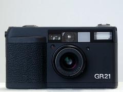 Ricoh GR21 - Front (Lordcolus) Tags: camera film ps ricoh gr21 ricohgr21