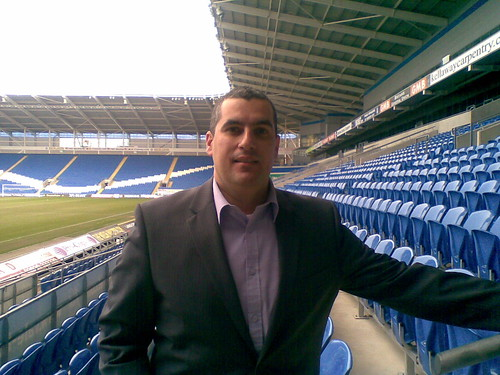Cardiff City Stadium. Elio Assuncao CEO at YODspica Ltd and Wales Connects International Ltd, attended the Business Network Central at Cardiff City Stadium.