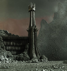 Mordor's Black Gate (Mtys Gbor) Tags: from miniature view you photos or lordoftherings everyone sauron mordor morannon shadowx theblackgate gyrkura gatex modelx darkx miniaturex thelandosshadow morannonx ringsx tolkienx sauronx