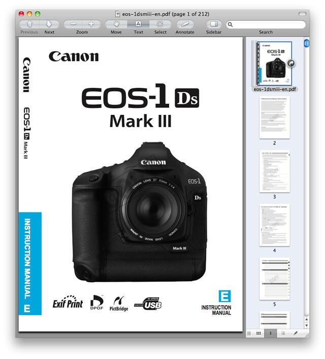 Canon 1Ds Mark III Manual
