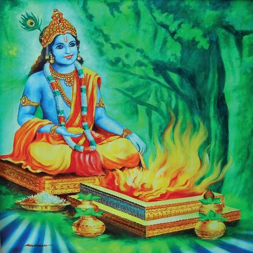 Krishna+performing+Agnihotra