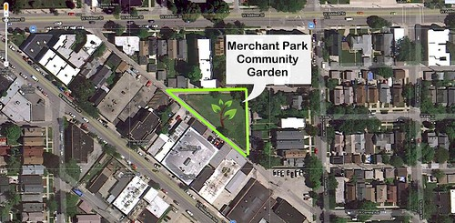 Aerial View of Merchant Park Community Garden
