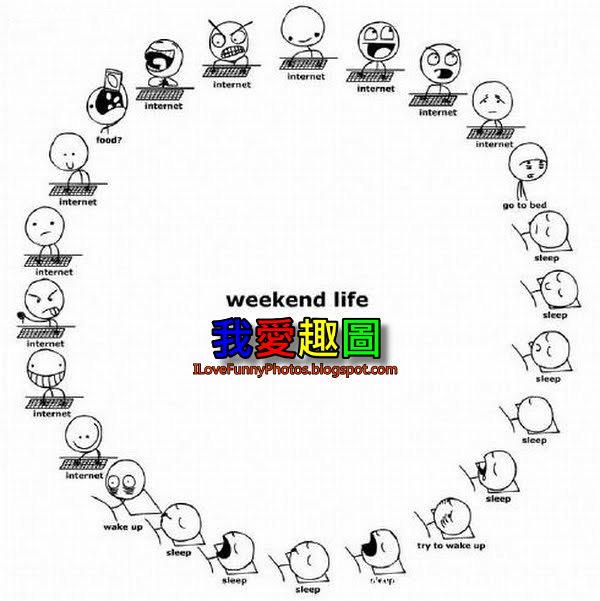 週末的生活