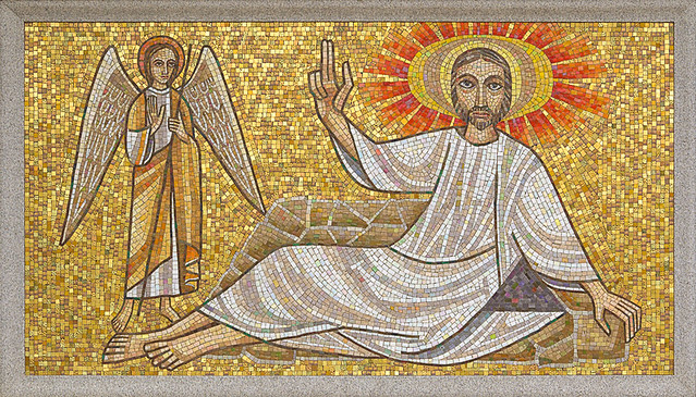 Resurrection Cemetery, in Affton, Missouri, USA - mosaic of Our Lord teaching