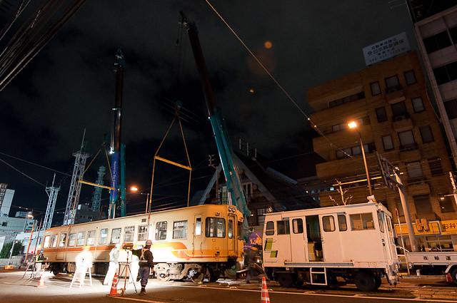伊予鉄道700系 モハ711 廃車搬出回送