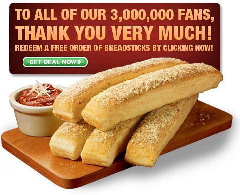 Free Pizza Hut Breadsticks