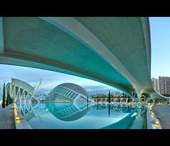 Reflection (AO-photos) Tags: reflection water valencia spain eau fisheye espana reflet 8mm espagne hdr valence samyang