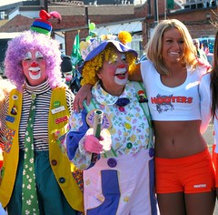 Clowning Around (Carl Neufelder) Tags: ladies girl women clown hooters babe parade females clowns denvercolorado internationalwomensday hootergirls
