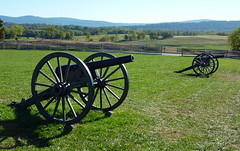 Civil War cannon near the Visitor Center at Antietam National Battlefield